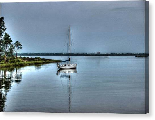Sailboat Off Plash Canvas Print