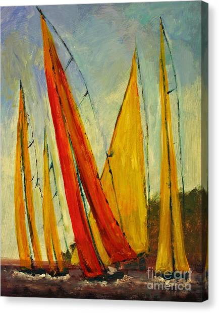 Sailboat Studies 2 Canvas Print