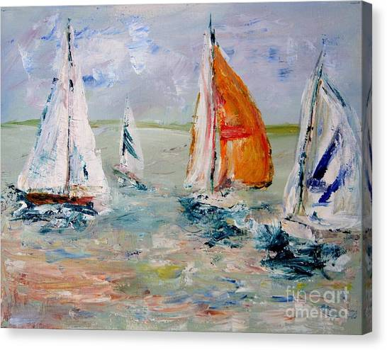 Sailboat Studies 3 Canvas Print