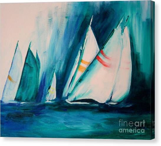 Sailboat Studies Canvas Print
