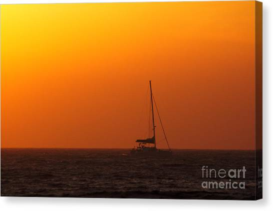 Canvas Print featuring the photograph Sailboat Waiting by Jeremy Hayden