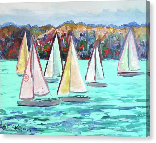 Sailboats In Spain I Canvas Print
