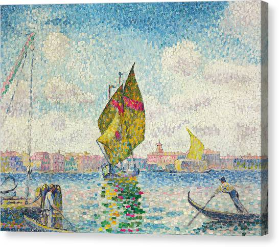 Pointillism Canvas Print - Sailboats On Giudecca Or Venice, Marine by Henri-Edmond Cross