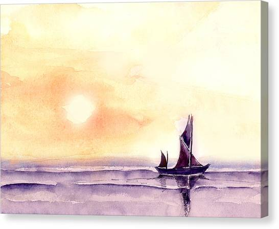 Boat Canvas Print - Sailing by Anil Nene