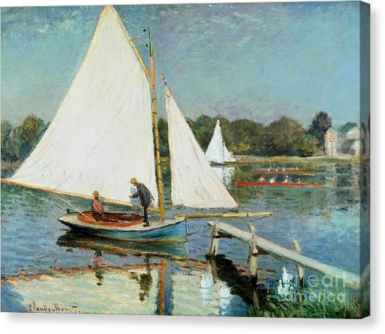 Painters Canvas Print - Sailing At Argenteuil by Claude Monet