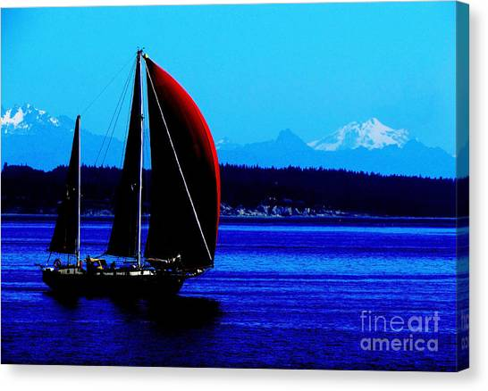 Sailing At Port Townsend Washington State Canvas Print