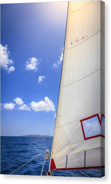 Jibbing Canvas Print - Sailing Away by Alexey Stiop