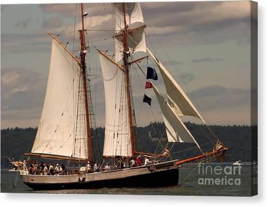 Sailing Away Canvas Print by Robert Torkomian