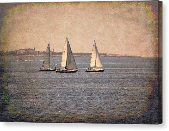 Canvas Print featuring the photograph Sailing  by Betty Pauwels