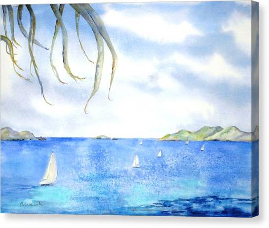 Sailing Between The Islandsd Canvas Print