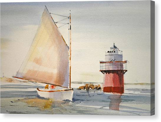 Sailing By Buglight  Canvas Print