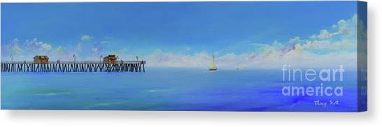 Sailing By San Clemente Canvas Print