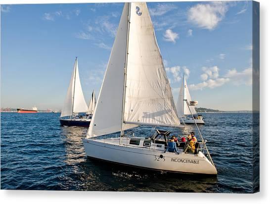 Sailing Crew Canvas Print by Tom Dowd