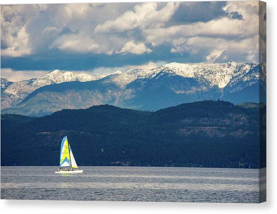 Sailing Flathead Lake Canvas Print