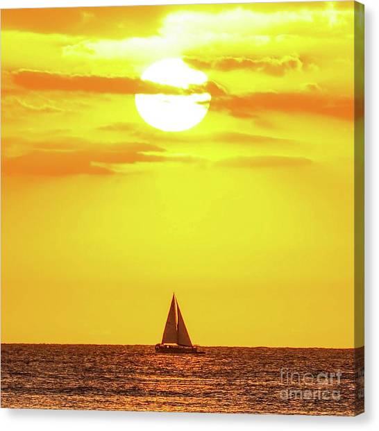 Sailing In Hawaiian Sunshine Canvas Print