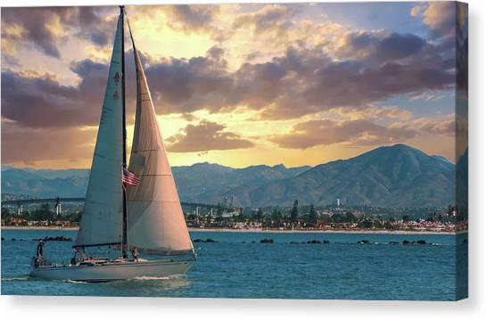 Sailing In San Diego Canvas Print