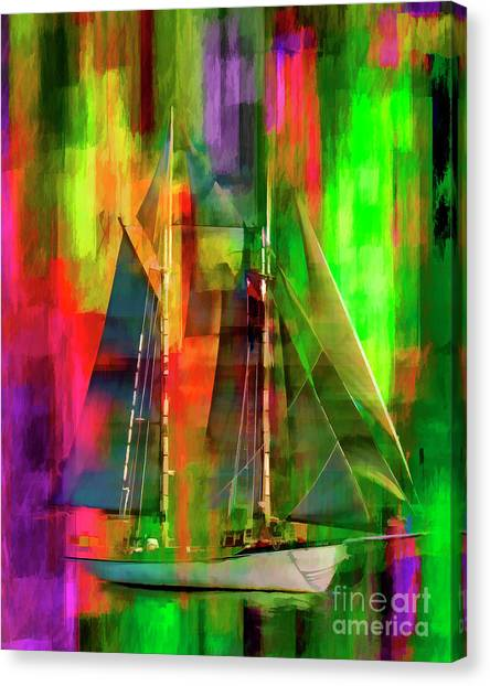 Sailing In The Abstract 2016 Canvas Print