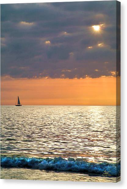 Sailing In The Sun Canvas Print