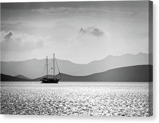 Turkish Canvas Print - Sailing In The Sunset by Delphimages Photo Creations