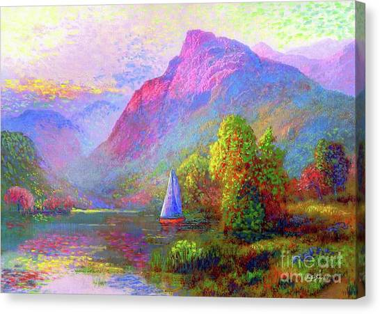 Ships Canvas Print -  Sailing Into A Quiet Haven by Jane Small