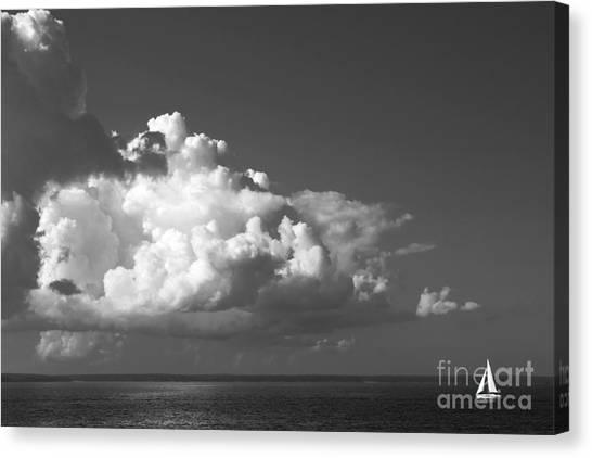 Sailing Into Storm Canvas Print