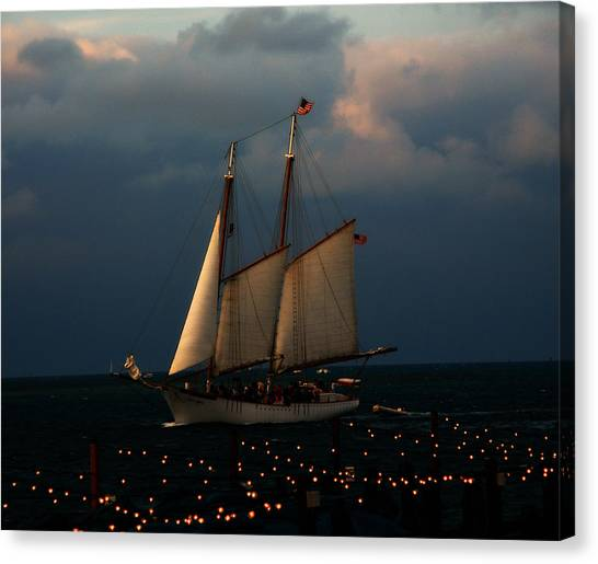 Sailing Into Sunset  Canvas Print