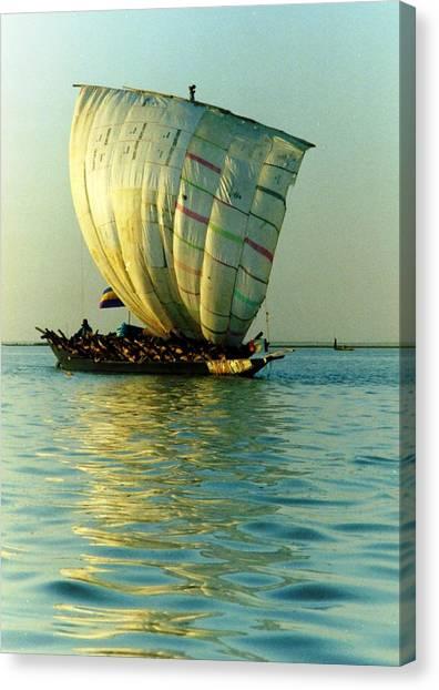 Sailing Into The Evening Sun Canvas Print