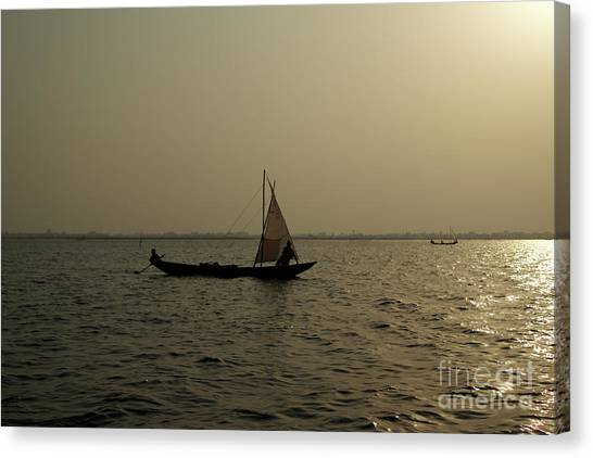 Sailing Into The Sunset Canvas Print by David Shaffer