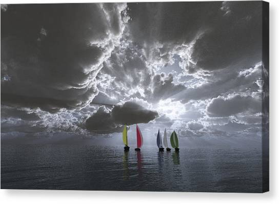Sailing Canvas Print by Margaret Wingstedt