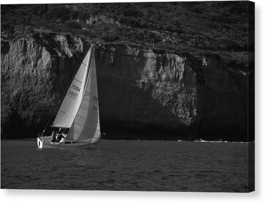 Sailing Off Southern California Canvas Print