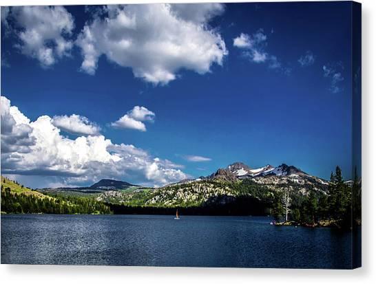 Sailing On Caples Lake Canvas Print