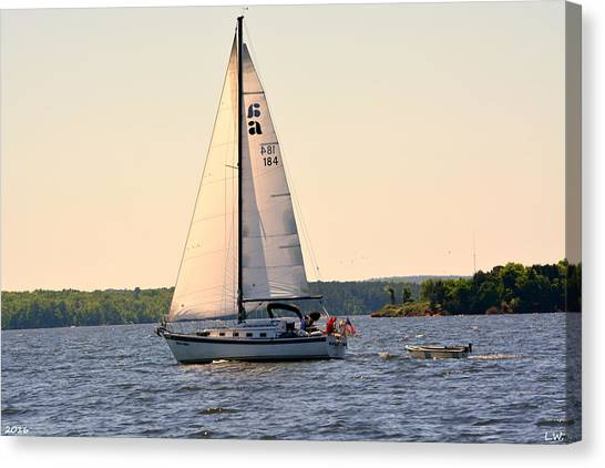 Sailing On Lake Murray Sc Canvas Print