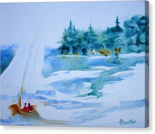 Sailing On Yupo Canvas Print by Judy Fischer Walton
