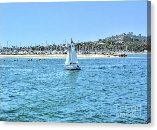 Sailing Out Of The Harbor Canvas Print