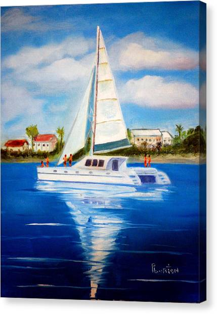 Sailing Paradise Island Bahamas Canvas Print