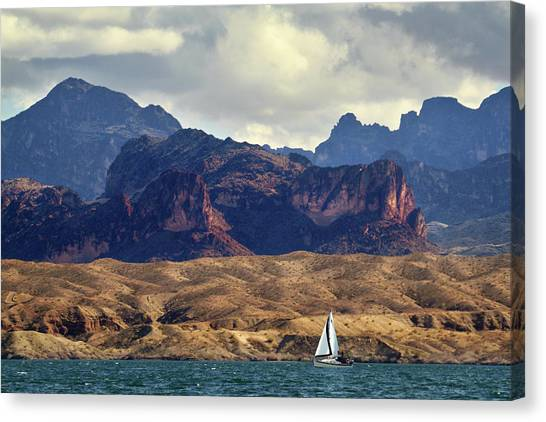 Sailing Past The Sleeping Dragon Canvas Print