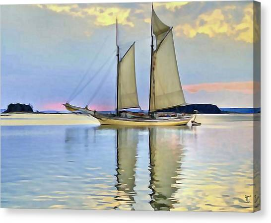 Sailing Sailin Away Yay Yay Yay Canvas Print by  Fli Art