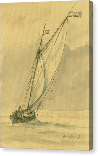 Nautical Decor Canvas Print - Sailing Ship by Juan Bosco