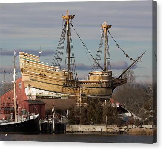 Sailing Ship Repairs Canvas Print