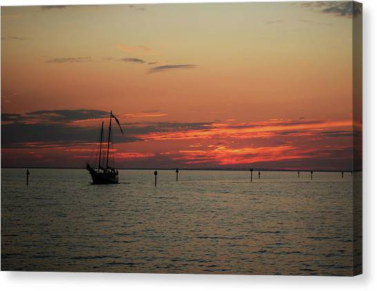 Sailing Sunset Canvas Print
