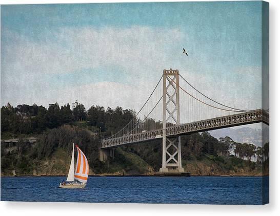Sailing The Bay Canvas Print