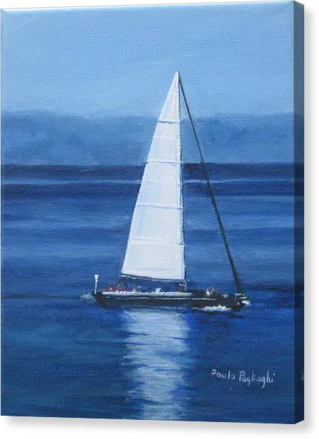 Sailing The Blues Canvas Print