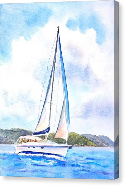 Sailing The Islands 2 Canvas Print