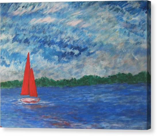 Sailing The Wind Canvas Print