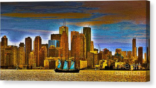 Toronto Fc Canvas Print - Sailing Through The City Of Gold by Nina Silver