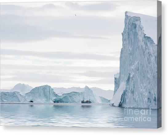 Glacier Bay Canvas Print - Sailing Through  The Icefjord by Janet Burdon
