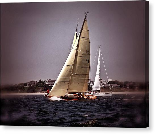 Sailing To Nantucket 005 Canvas Print