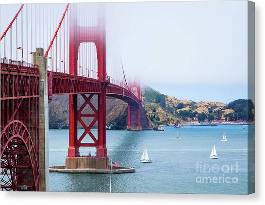Sausalito california canvas prints page 18 of 23 fine art america sausalito california canvas print sailing under the golden gate by karl greeson altavistaventures Gallery