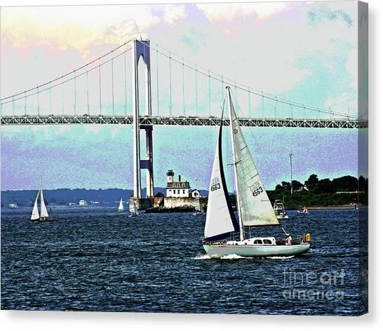 Sailors Away Canvas Print