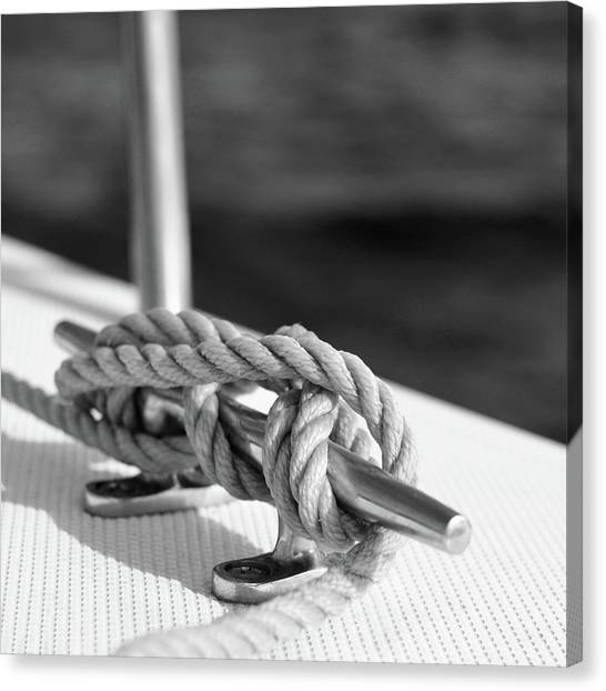 Florida House Canvas Print - Sailor's Knot Square by Laura Fasulo